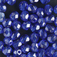 4mm Round Fire Polish Sapphire Luster