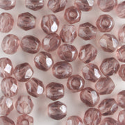 4mm Round Fire Polish Amethyst Luster