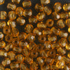 3mm Round Fire Polish Amber