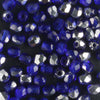 3mm Round Fire Polish Cobalt Silver