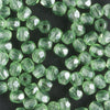 3mm Round Fire Polish Peridot Green Luster