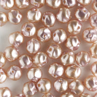 4mm Baroque Glass Pearls Lilac