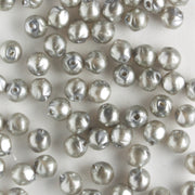 3mm Baroque Glass Pearls Silver