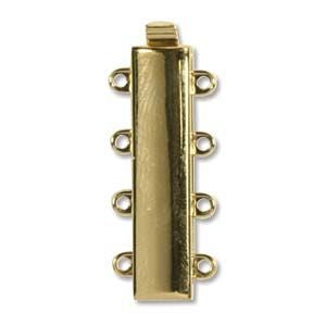 4 Strand Clasp Gold (Elegant Elements)