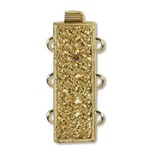 3 Strand Clasp Gold (Elegant Elements)