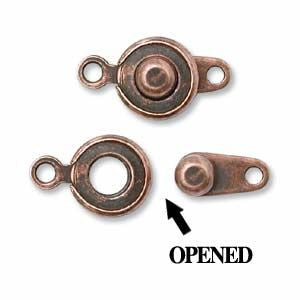 Ball and Socket Clasp Antique Copper