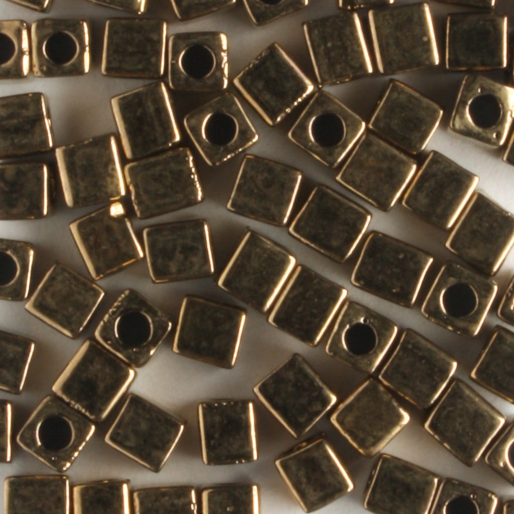 3mm Cube Metallic Bronze