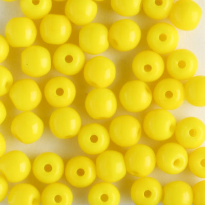 4mm Druk Opaque Yellow