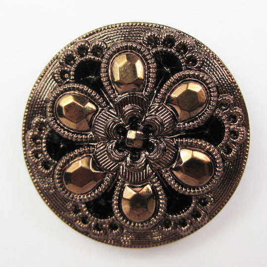 Glass Button Bronze