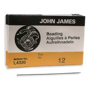 John james Beading Needles Size 12