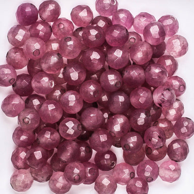 6mm Faceted Round Purple
