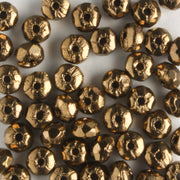 2x3mm Rondell Fire Polish Dark Gold