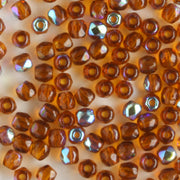 2mm Round Firepolish Dark Topaz AB