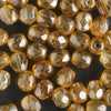4mm Round Fire Polish Amber Luster