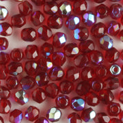3mm Round Fire Polish Garnet AB