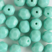 6mm Round Fire Polish Opaque Turquoise