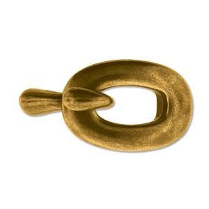 Hook and Eye Clasp Antique Brass