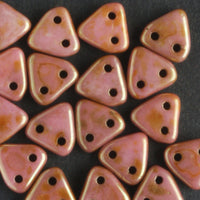 2 Hole Triangle Luster Rose Gold