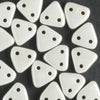 2 Hole Triangle Luster Opaque White