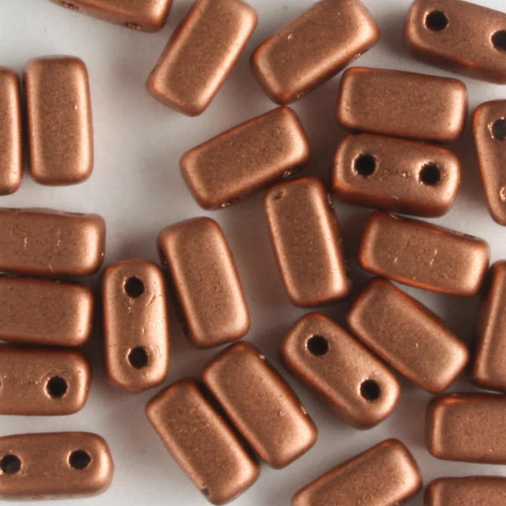 2 Hole Brick Matte Metallic Copper (CzechMates)