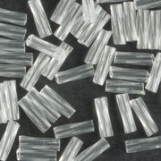 6mm Twisted Bugle Transparent Crystal (Miyuki)