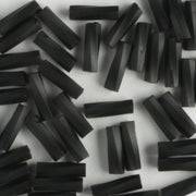 6mm Twisted Bugle Opaque Frosted Black (Miyuki)