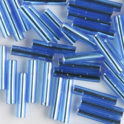 9mm Bugle Silver Lined Light Royal Blue (Miyuki)
