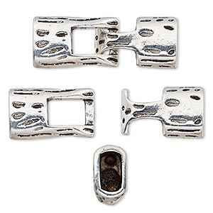 Hook and Eye Clasp Silver