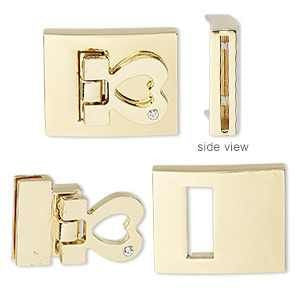 Fold Over Clasp Gold