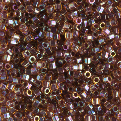 DBH0088 Color Lined Rainbow Dark Topaz Brown