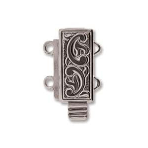 2 Strand Clasp Silver (Elegant Elements)