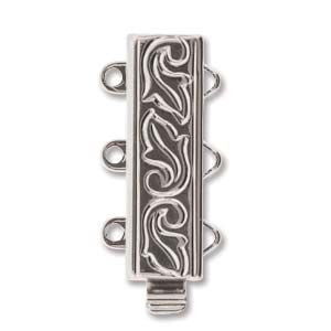 3 Strand Clasp Silver (Elegant Elements)