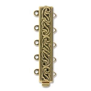 5 Strand Clasp Gold (Elegant Elements)