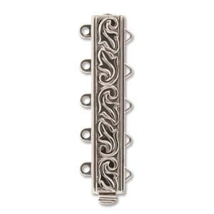 5 Strand Clasp Silver (Elegant Elements)