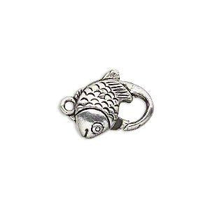 Lobster Clasp Antique Silver