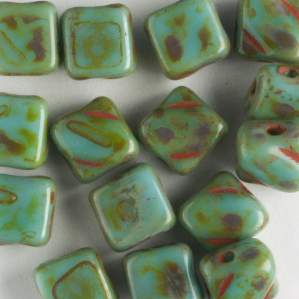 Silky Beads Turquoise Travertine