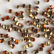 True 2mm Round Fire Polish California Gold Rush