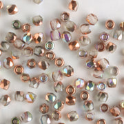 True 2mm Round Fire Polish Crystal Copper Rainbow