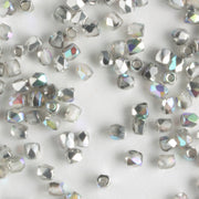 True 2mm Round Fire Polish Crystal Silver Rainbow