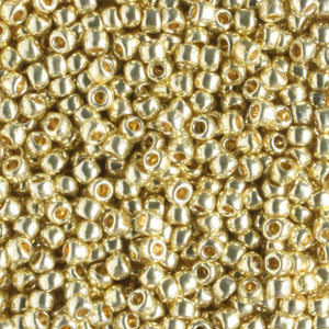 11/0 PermaFinish Galvanized Yellow Gold (Toho)
