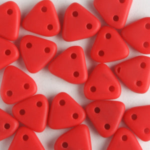 2 Hole Triangle Matte Opaque Red