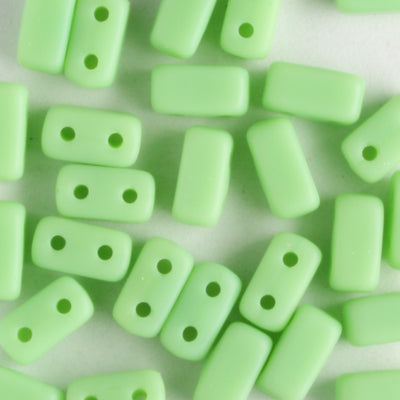 2 Hole Brick Matte Honeydew (CzechMates)