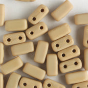2 Hole Brick Matte French Beige (CzechMates)