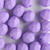 6mm Round Fire Polish Saturated Purple