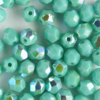 4mm Round Fire Polish Turquoise AB