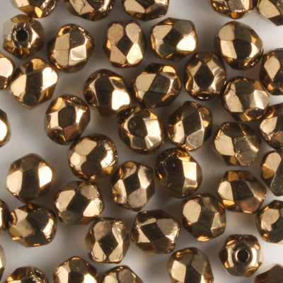 4mm Round Fire Polish Bronze