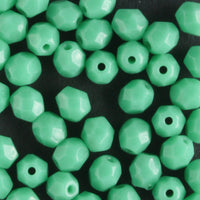 4mm Round Fire Polish Green Turquoise