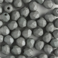 4mm Round Fire Polish Saturated Grey