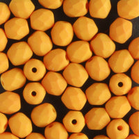 4mm Round Fire Polish Saturated Pumpkin