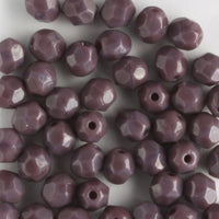4mm Round Fire Polish Opaque Purple